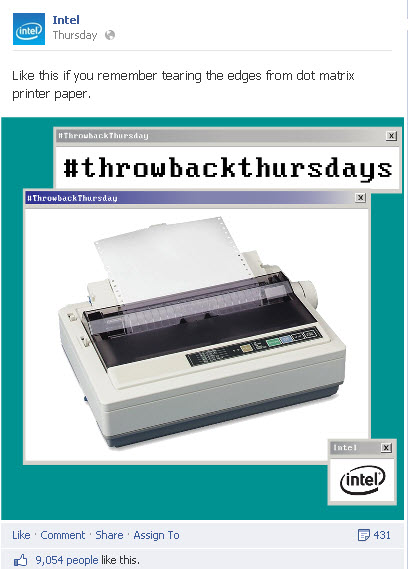 Intel Throwback Thursdays