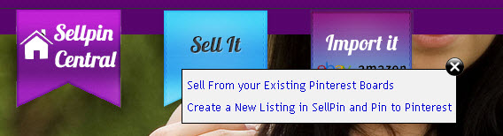 Sell an item on SellPin