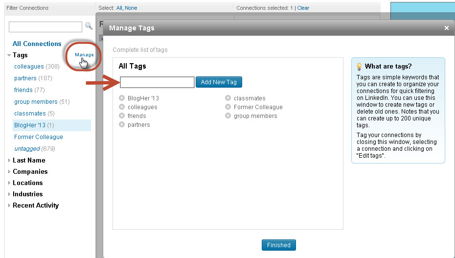 LinkedIn_Organizing Contacts