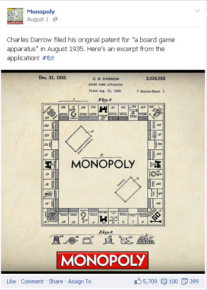 Monopoly uses hashtags