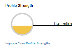 LinkedIn Intermediate Profile Strength